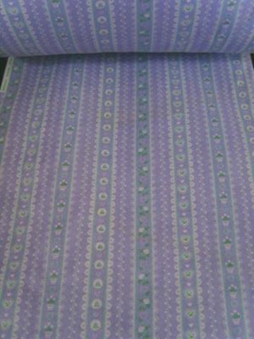 FABRIC17 29cm Lilac Cotton Fabric with a Flowery Design