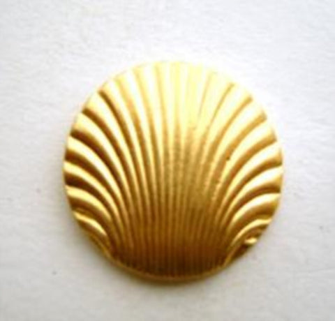 B9641 17mm Gold Plated Metal Shank Button, Shell Design - Ribbonmoon