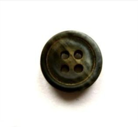 B16711 14mm Tonal Dark Greens Matt 4 Hole Button - Ribbonmoon