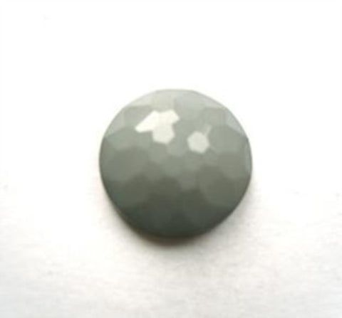 B11567 14mm Mid Grey Domed Honeycomb Shank Button - Ribbonmoon