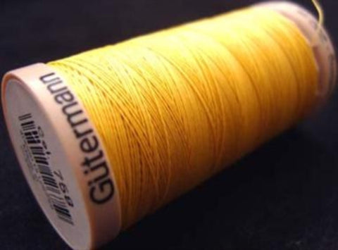 GQT 758 Gutermann 200 metre spool of Cotton Quilting Thread, Yellow