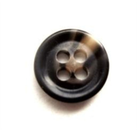 B11320 14mm Dark Browns and Natural Beige 4 Hole Button