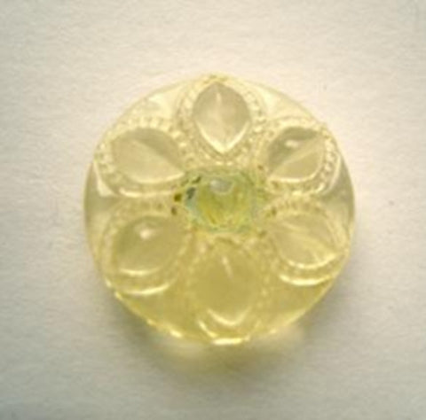 B11771 16mm Yellow Tinted Glass Effect Transparent Shank Button - Ribbonmoon