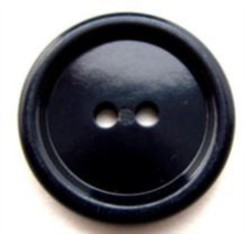 B11953 22mm Dusky Navy High Gloss 2 Hole Button - Ribbonmoon