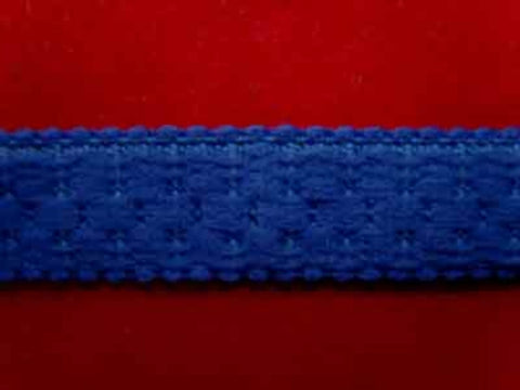 FT1534 14mm Light Royal Blue Thick Soft Back Elasticated Braid - Ribbonmoon