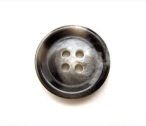 B10826 15mm Grey and Black 4 Hole Button - Ribbonmoon