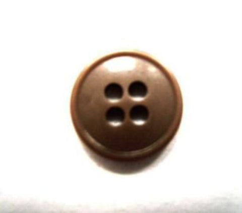 B15919 14mm Beige Brown 4 Hole Button - Ribbonmoon