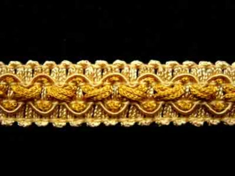 FT1938 17mm Pale Honey and Topaz Gold Tough Braid Trimming