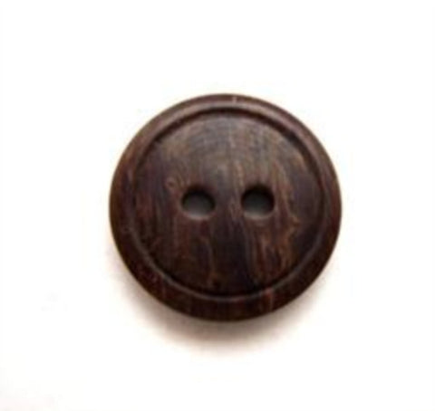 B10165 15mm Tonal Brown 2 Hole Button - Ribbonmoon