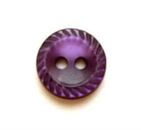 B8069 11mm Blackberry Polyester 2 Hole Button with a Mill Edge Rim - Ribbonmoon