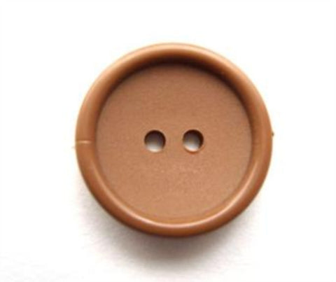 B11417 16mm Patsel Fawn Matt Centre 2 Hole Button - Ribbonmoon