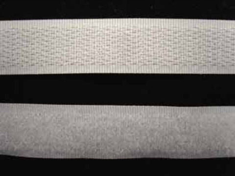 HL18 16mm White Sew On Hook and Loop Fastening Tape - Ribbonmoon