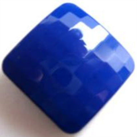 B12884 27mm Dark Royal Blue Gloss Shank Button - Ribbonmoon