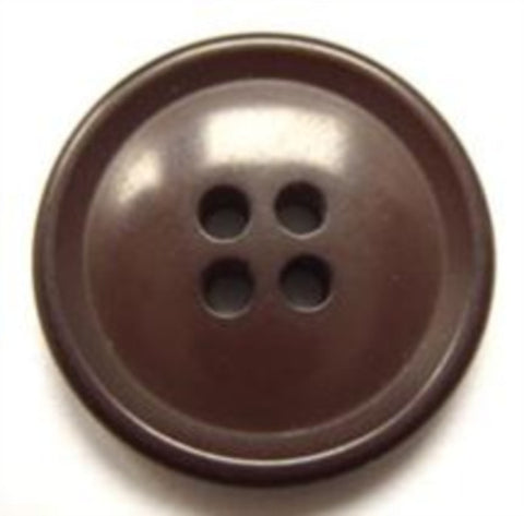 B11287 22mm Misty Brown 4 Hole Button - Ribbonmoon