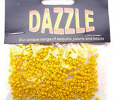 BEAD28  2mm Yellow Glass Rocialle Beads, size 8/0 - Ribbonmoon