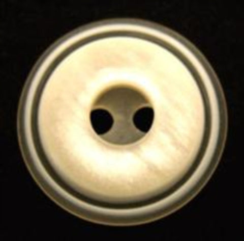 B9869 20mm Tonal Cream Gloss 2 Hole Button - Ribbonmoon