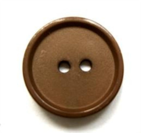 B16617 19mm Light Brown Matt Centre 2 Hole Button - Ribbonmoon