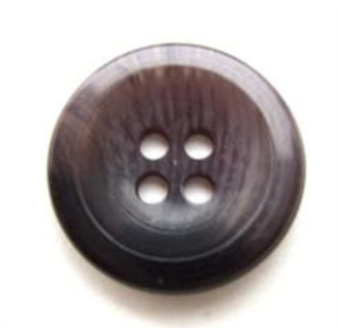 B10821 19mm Black and Mauve Grey 4 Hole Button - Ribbonmoon