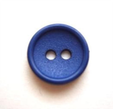 B8321 14mm Royal Blue Matt Centre 2 Hole Button - Ribbonmoon