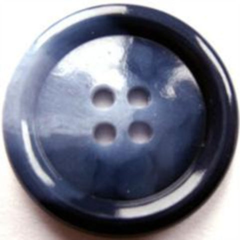 B17813 25mm Mixed Blues High Gloss 4 Hole Button - Ribbonmoon