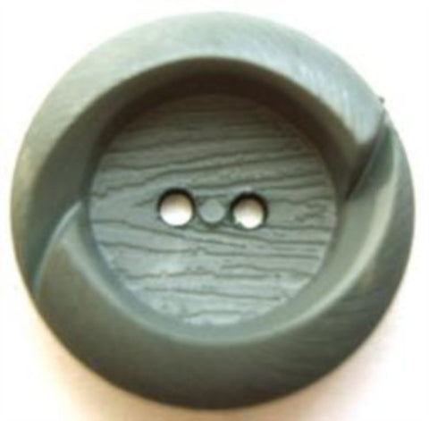 B7586 23mm Dusky Petrol Chunky Lightly Textured 2 Hole Button - Ribbonmoon