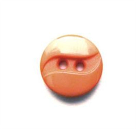 B9073 13mm Apricot Gloss and Matt 2 Hole Button - Ribbonmoon
