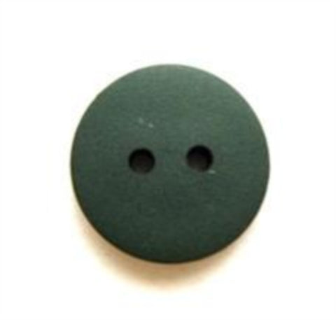 B8190 15mm Dull Holly Green Matt 2 Hole Button - Ribbonmoon