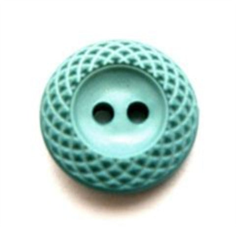 B7998 16mm Turquoise Textured Rim Gloss Centre 2 Hole Button - Ribbonmoon