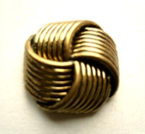 B11044 19mm Antique Brass Gilded Poly Knot Shank Button - Ribbonmoon