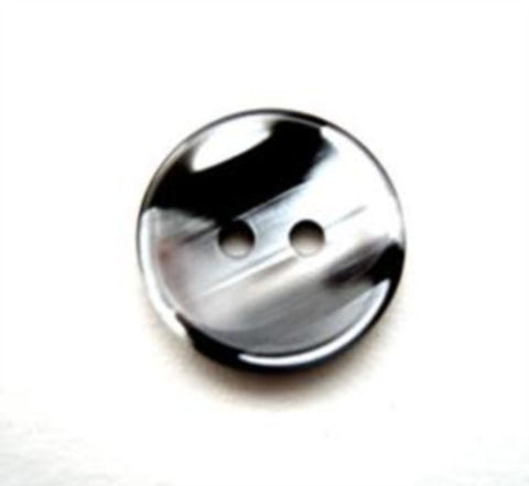B12115 15mm Black and Pearl Variegated Polyester 2 Hole Button