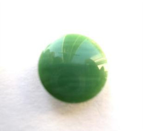 B7249 15mm Tonal Parakeet Greens High Gloss Shank Button - Ribbonmoon