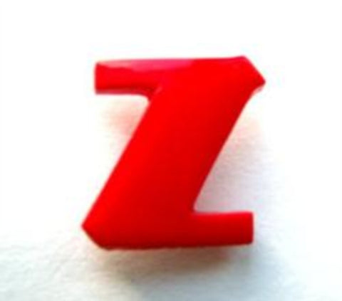 B7113 Letter Z Alphabet Shank Button Red - Ribbonmoon