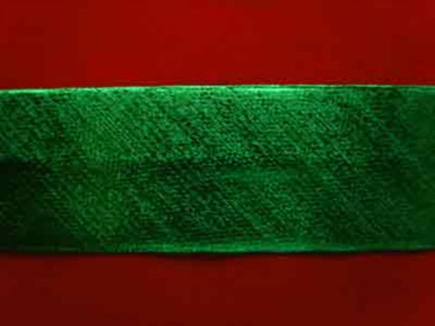 BB123 19mm Oxidised Green Thin Metallic Lurex Bias Binding - Ribbonmoon