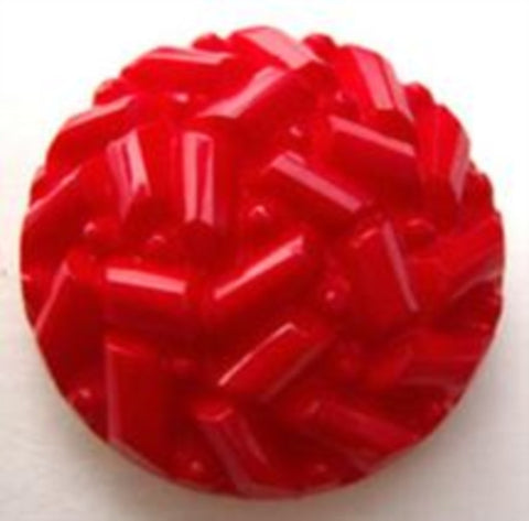 B15387 22mm Red Textured Shank Button - Ribbonmoon