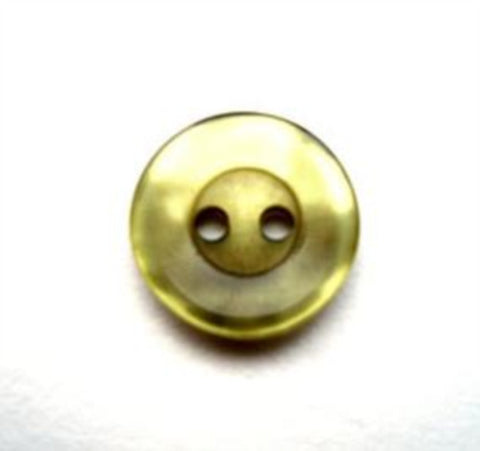 B13406 13mm Cypress Green Shimmery Polyester 2 Hole Button - Ribbonmoon