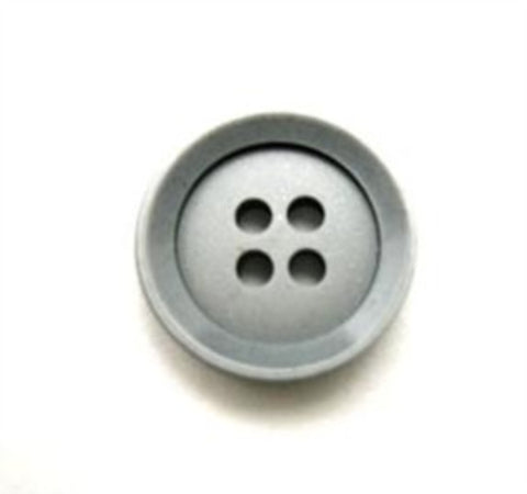 B10793 15mm Silver Grey Matt Centre 4 Hole Button - Ribbonmoon