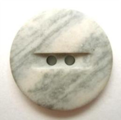B6638 20mm Pale Tonal Greys Matt Stone Effect 2 Hole Button - Ribbonmoon