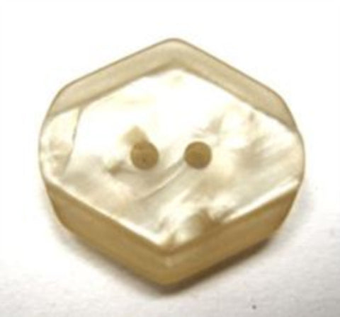 B15583 20mm Straw Beige Tinted Vivid Shimmer 2 Hole Button - Ribbonmoon