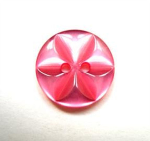 B16285 16mm Dusky Fuchsia 2 Hole Polyester Star Button - Ribbonmoon
