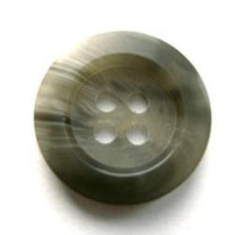 B17512 19mm Mid and Light Greys Bone Sheen 4 Hole Button - Ribbonmoon