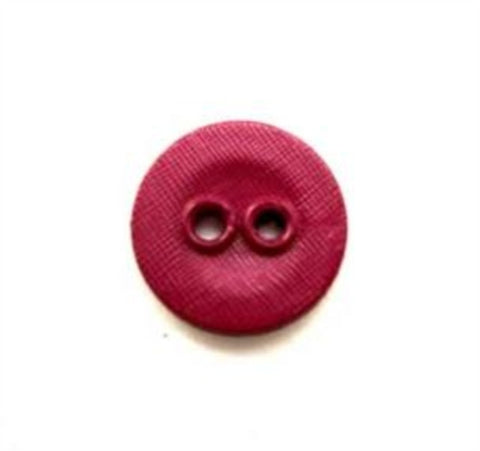 B13702 14mm Deep Magenta Lightly Textured Linen Effect 2 Hole Button - Ribbonmoon