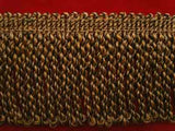 FT1932 66mm Black and Old Gold Bullion Fringe - Ribbonmoon