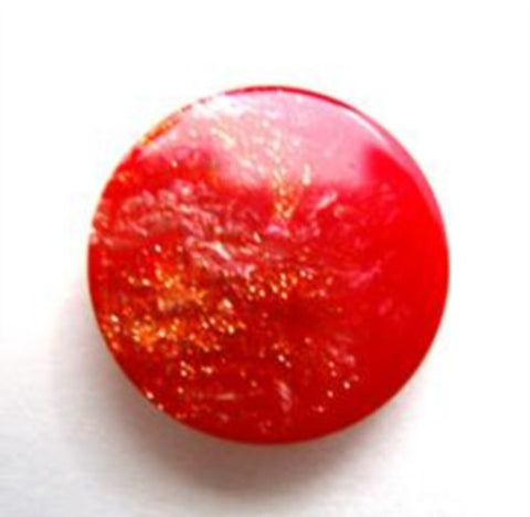 B14125 18mm Red and Glittery Button, Hole Built into the Back - Ribbonmoon