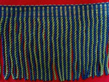 FT1994 205mm Navy,Green & Rosy Brown Bullion Fringe - Ribbonmoon