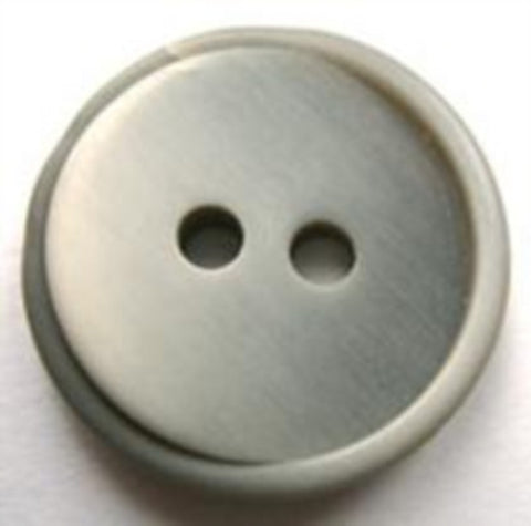 B17609 23mm Pale and Mid Grey Soft Sheen 2 Hole Button - Ribbonmoon