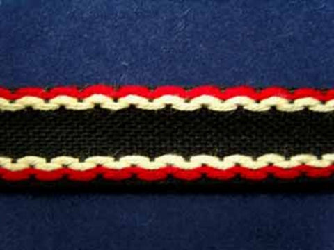 FT950 14mm Black, Yellow and Red Tough Woven Braid Trim