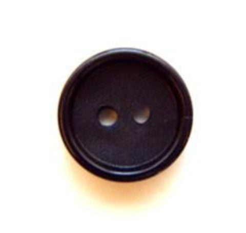 B5084 14mm Deep Navy Matt Centre 2 Hole Button - Ribbonmoon