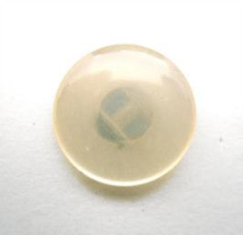 B16474 17mm Cream Tinted Pearlised Polyester Shank Button - Ribbonmoon