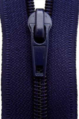 Z4135 46cm Deep Rich Navy Nylon No.5 Open End Zip