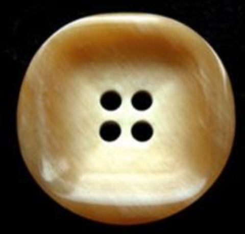 B17812 22mm Frosted Toffee Aaran Gloss 4 Hole Button - Ribbonmoon